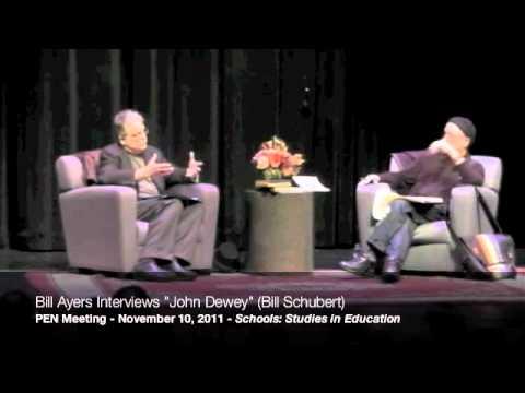 """Bill Ayers interviews """"John Dewey"""" (Bill Shubert) at the 2011 PEN Meeting, part 3/9"""