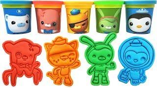 The Octonauts Play-Doh Molds & Toys Captain Barnacles Professor Inkling Kwazii Tweak Peso