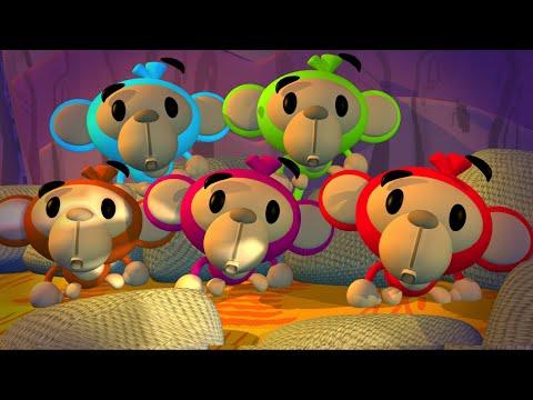 Five Little Monkeys | Nursery Rhymes Cartoon | Kindergarten Song for Kids by Little Treehouse S01E03