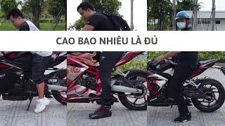 Cao bao nhiêu đi được moto PKL? (How tall can I ride a motorcycle?) - Clip hài   Hoan1208