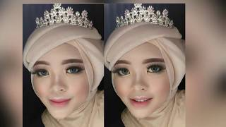 TUTORIAL WEDDING HIJAB WITH PASMINA GLITTER | By Vapinka makeup