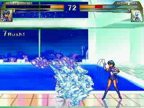 Sailor Mercury vs Sailor Mars MUGEN