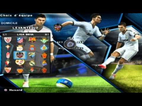PES 2013 PS2 Menu & Teams HD