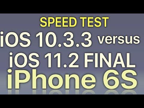 iPhone 6S : iOS 11.2 Final vs iOS 10.3.3 Speed Test Build 15C114