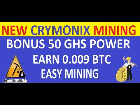 CRYMONIX-New Cloud Mining:Free 50 GS/S!! Earn BTC,DOGE,USD, Without Investment!!