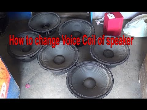 15 inch speaker only voice coil replacement(hindi)