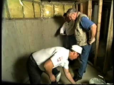 Fitting a basement sump pump system. Guides