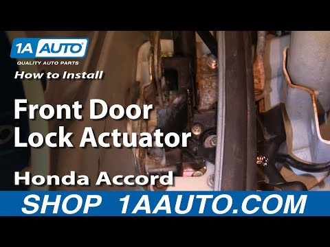 How To Install Replace Front Door Lock Actuator Honda Accord 94-97 1AAuto.com