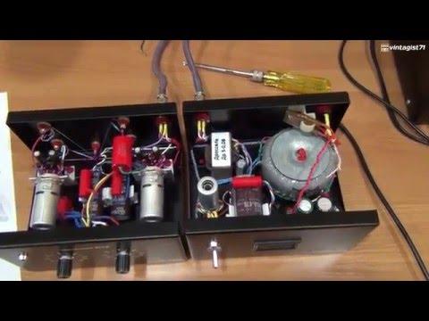 Ламповый фонокорректор на лампах 6Н23П
