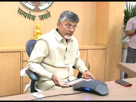 TELECONFERENCE ON TITILI CYCLONE BY AP CM AT PRAJAVEDIKA ON 10102018