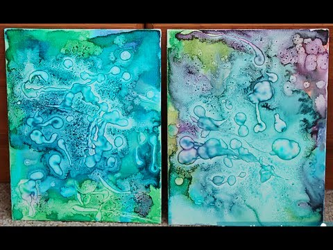 Diy watercolor glue painting pinterest project for What to do with a canvas