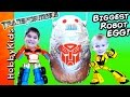 World's BIGGEST ROBOT Surprise Egg! Fighting Transformers + B...