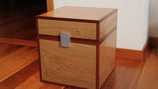 How to make a Minecraft Chest in Real Wood - Kids Toys