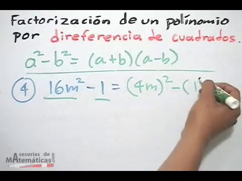 Factorización: Diferencia de cuadrados