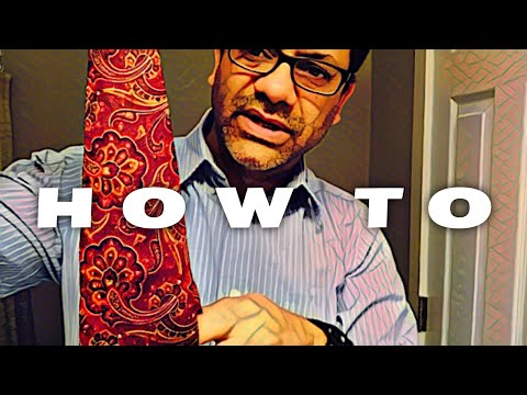 how to tie a necktie  | a step by step guide from the average guy