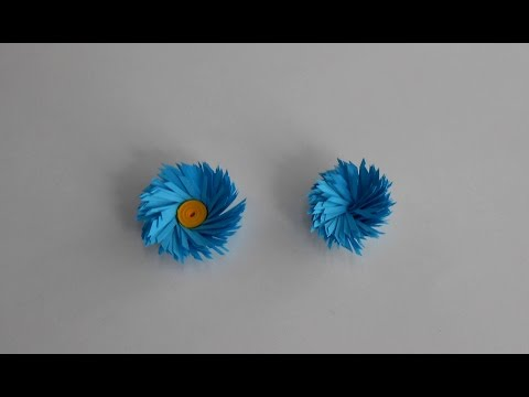 Cross Fringed Quilling Flowers - Tutorial