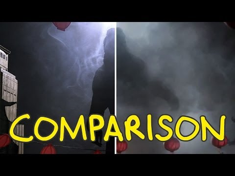 Godzilla Trailer - Homemade Side by Side Comparison