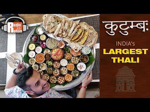 INDIA'S LARGEST THALI | 13 KILOGRAM | DELHI