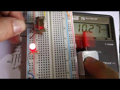 Fuente Regulada de voltaje variable (LM317) Variar velocidad Motor