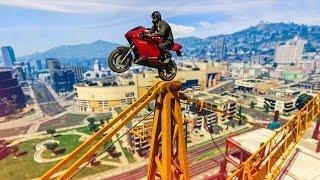 MY BEST BIKE STUNT EVER?! - (GTA 5 Stunts & Fails)