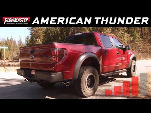 Flowmaster American Thunder Cat-back System - 10-14 Ford F-150 SVT Raptor 6.2L - 817551