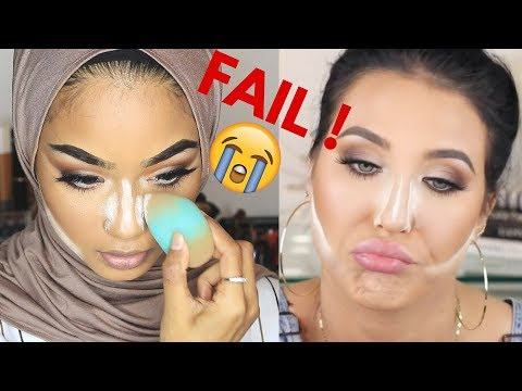 I tried following a JACLYN HILL makeup tutorial !
