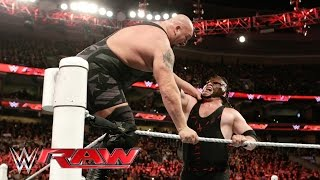 Kane clears the ring and levels Big Show: Raw, March 21, 2016