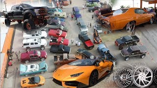 SHOP IN DALLAS GETS FULL OF LUXURY CARS ON FORGIATOS ALONG WITH LIFTED TRUCKS ON FORCES!