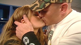 John Cena calms Maria's nerves with a kiss: Raw, Feb. 6, 2006