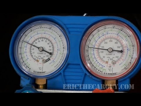 How To Recharge An Ac System Ericthecarguy Youtube