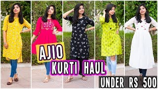 AJIO Kurti Haul under Rs.500| College/Office wear Kurtis