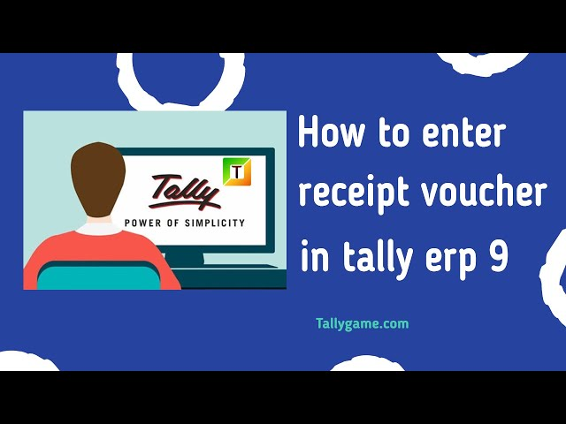 receipt voucher or receipt entry in tally& tally erp9
