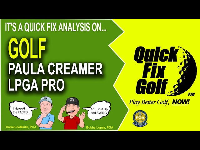 Golf Swing Analysis Online Paula Creamer