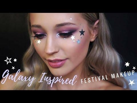 Galaxy Inspired Festival Makeup Tutorial #1