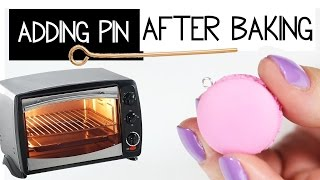 HOW TO ADD AN EYEPIN AFTER BAKING ? + GIVEAWAY (CLOSED) polymer clay tips & tricks #2
