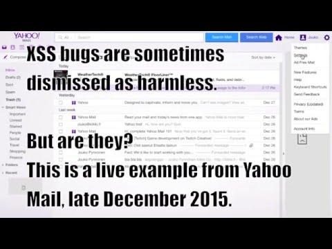 Yahoo Mail stored XSS