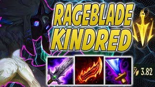 RAGEBLADE KINDRED IS TO GOOD EASY CARRIES | 9.7 Kindred  Jungle Vs Udyr - League Of Legends