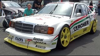MERCEDES 190 EVO 2 Ex DTM Engine warming-up.