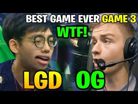 WHAT A GAME! BEST GAME EVER - LGD vs OG TI8 - GAME 3