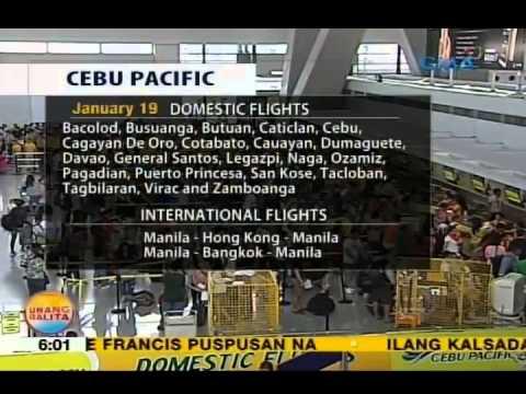UB: Mahigit 200 flights ng Cebu Pacific at Tiger Airways, kanselado dahil sa Papal visit
