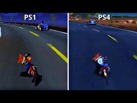 Crash Bandicoot N.Sane Trilogy PS4 vs PS1 Gameplay Graphics Comparison