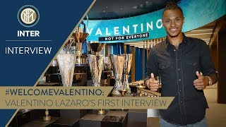 VALENTINO LAZARO | First Inter TV Interview | #WelcomeValentino! 🎙️⚫️🔵 [SUB ENG + ITA]