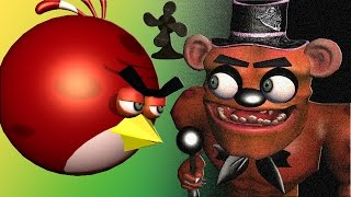 ANGRY BIRDS in 5 NIGHTs at FREDDY's  ♫  3D animated  mashup  ☺ FunTV - Style ;-))