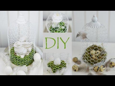 DIY - Osterdeko / Frühlingsdeko Selber Machen | Dekoglocke Aus Hasendraht | Shabby Chic Stil