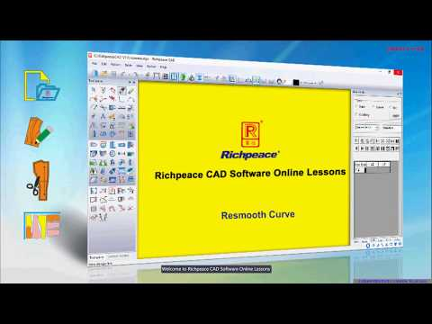 Richpeace CAD Software Online Lessons Tip of the day resmooth curve