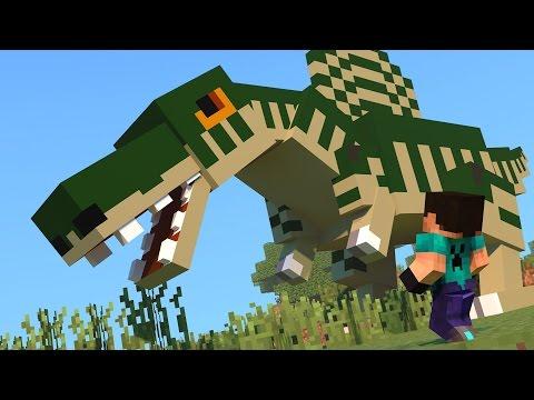 Minecraft - DINOCRAFT! #14 COMIDA QUE FAZ O DINO CRESCER!