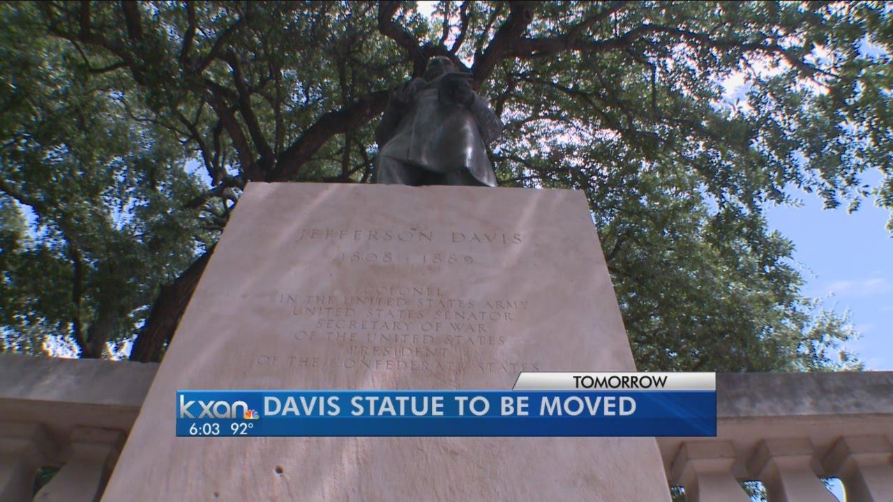 UT announces relocation of Jefferson Davis and Woodrow Wilson statues