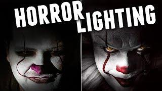 5 HORROR Lighting Setups with 1 LIGHT