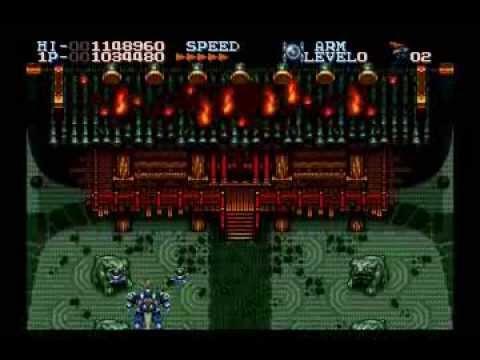 Robo Aleste Sega CD gameplay