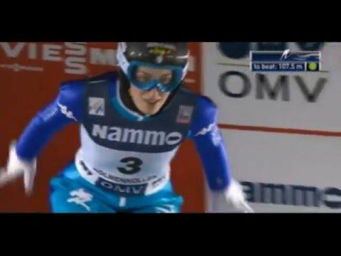 Ski jumping World Cup 2016 Ladies. Oslo. Evelyn Insam ITA